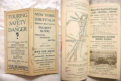 1923 New York to Buffalo Motoring Tourist Guide-Driving Routes-Towns-Maps