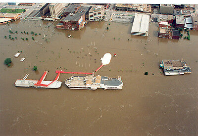 Iowa/ Illinois Great Flood Disaster 1993 Mississippi River(D41)