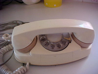 Cream Colored Rotary Dial Telephone Vintage