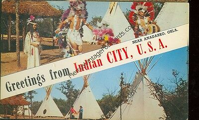 Anadarko,oklahoma-Greetings From Indian City Usa-(Indian-178)
