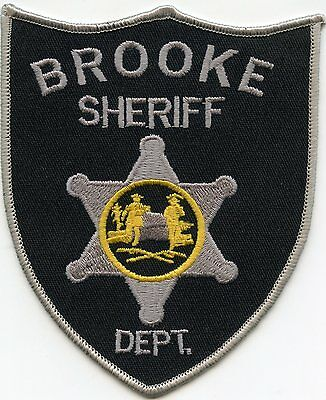 Brooke County West Virginia Wv Sheriff Police Patch