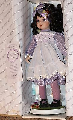 """Hamilton Heritage Collection Porcelain """"Shy Violet"""" Doll NIB by Kay McKee"""