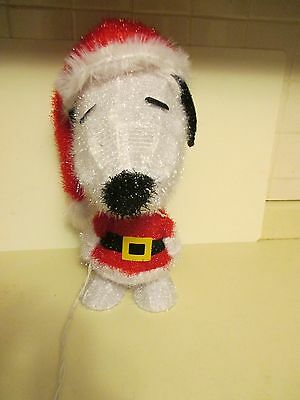 """2014 Peanuts Snoopy  3D Lighted Tinsel 19"""" Santa Clause  Christmas Decoration"""