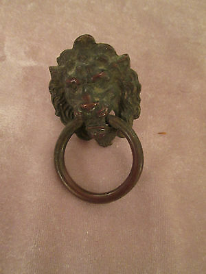 Antique Victorian East Lake Lion Drawer pull DE15