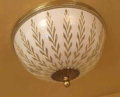 Vintage Lighting 1970s Hollywood Regency foyer by Lightolier