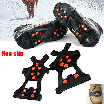 Over Shoe Boot Ice Snow Grips Grippers Anti Slip Cleats Studs Spikes Crampons