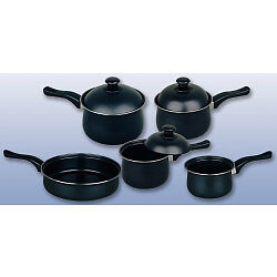 Pendeford Value Plus Collection Non Stick Sauce Pan Set 5 Piece + Tape Measure