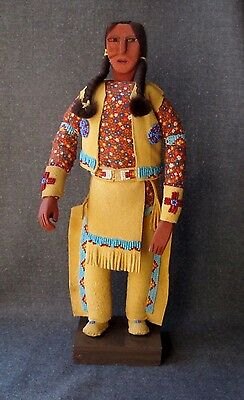 Vintage Native American Oglala Sioux Zelda Fast Horse Indian Man Doll