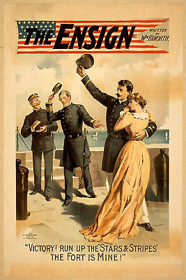 Photo Print Vintage Poster: Stage Theatre Flyer The Ensign 02