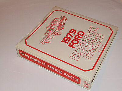 Vintage 1979 Ford Light Truck Dealer Spec Binder! F-150/ranchero/brocho/vans!