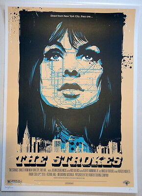 The Strokes - 2010 - Future Past Present - Melboure- Ken Taylor- Tour Poster