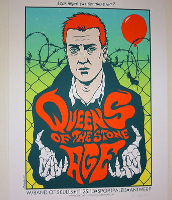 Queens Of The Stone Age - Antwerp - 2013 - Proof - Jermaine Rogers -   Poster
