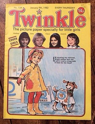 TWINKLE COMIC NO.729. 9 JANUARY 1982 VFN+ CONDITION. Puzzles Not Done.