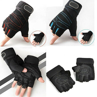 Weight lifting Gym Gloves Sport Training Fitness Wrist Wrap Exercise Half Finger