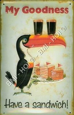 """Guinness - Toucan Have a Sandwich metal sign 12"""" x 8"""" inches IMMEDIATE SHIPMENT"""