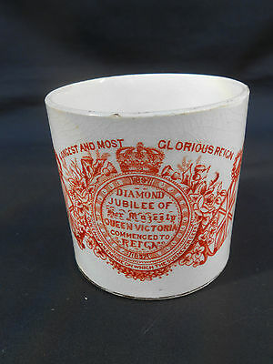 ** LONGEST AND MOST GLORIOUS REIGN ** Queen Victoria 1897 DIAMOND JUBILEE Mug