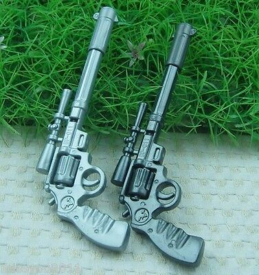 2PCS Novelty Gun Pen blue Ink School Office Stationery Kid F16
