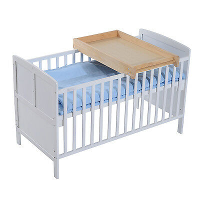 HOMCOM Baby Changing Table Drawer Infant Wooden Diaper Table Toddler Furniture