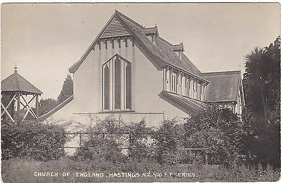 Nz Hastings Church Of England Postcard