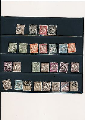 France stamps tax official to 5 francs value used and unused
