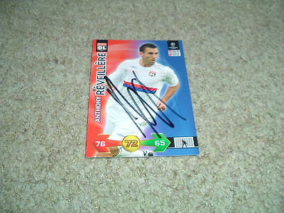 Anthony Reveillere - Lyon - Signed 09/10 Panini Champions League Trade Card