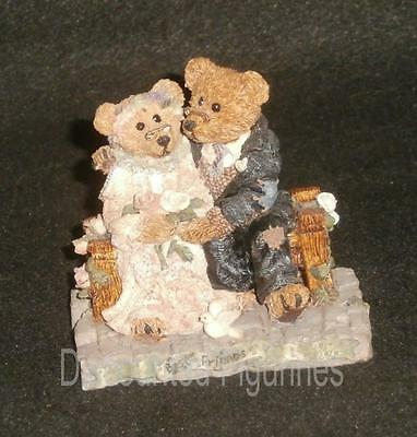 Boyd Bearstone Resin Bears 1994 Grenville and Beatrice Best Friends Figurine