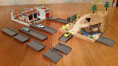 Lot #14 Micro Machines X2 Hiways & Byways Play Sets with Road and 5 cars, garage