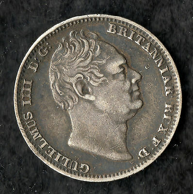 William IV Maundy Fourpence Silver 1837
