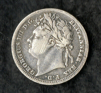George IV Maundy Penny Silver 1825