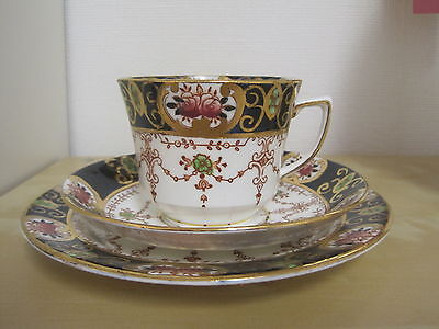 Lovely Doric China Imari Style Trio Cup Saucer Side Plate