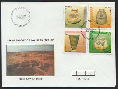 "1989, Pakistan ""Archaeology of Pakistan"" unaddressed Illustrated FDC."