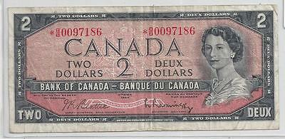 Canada 2 Dollar Banknote 1954 Replacement
