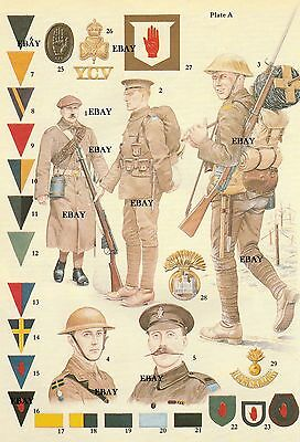 A 36Th (Ulster) Division Ww1 Insignia Print New Size A4 Northern Ireland Irish