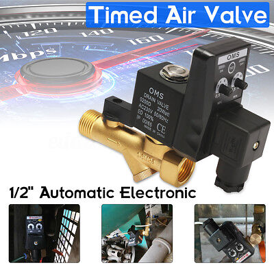 1/2'' AC 220V Automatic Electronic Timed Drain Valve for Air Compressed Gas Tank