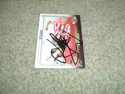 Jon Stead - Sunderland - Signed 05/06 Shoot Out Trade Card