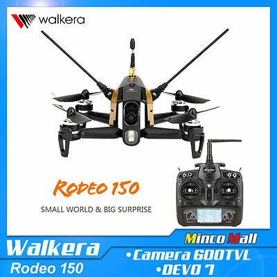 WALKERA Rodeo 150 5.8G FPV Racing Drone Quadcopter DEVO 7 + 600TVL Caméra RTF