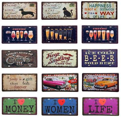 Vintage Metal Tin Sign Plaque Wall Art Poster Picture Cafe Bar Decor Car Plate