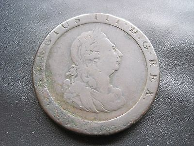 1797 George Iii Cartwheel One Penny Copper Coin