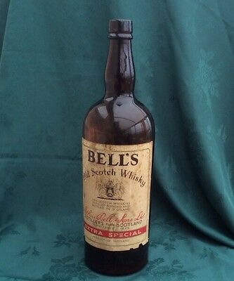 Rare Coloured bells old scotch whisky bottle Money Saving