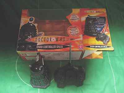 Doctor Who Radio controlled black Dalek original goodish box,just out to test.