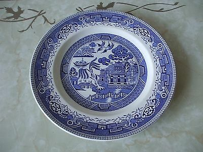 """Washington Pottery Old Willow Blue & White Dinner Plate 9.75"""""""