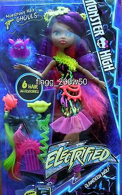 *Monster High* MONSTROUS HAIR GHOULS CLAWDEEN WOLF DOLL SET- Electrified!!