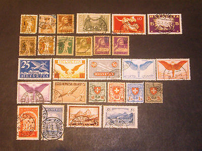 Switzerland collection 1915-28 good used.