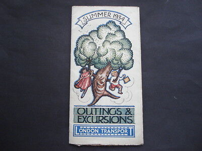 Summer 1934 London Transport Outings & Excursions Timetable