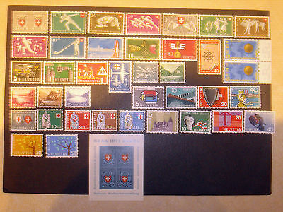 Switzerland collection 1950-71 mounted mint.