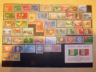 Switzerland collection 1952-65 good used.