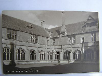 R/P POSTCARD - LACOCK ABBEY CLOISTERS - WILTSHIRE - c.1930