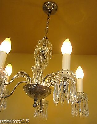 Vintage Lighting 1940s crystal chandelier