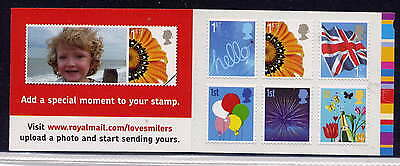 GB 2008 6 x 1st CLASS SMILERS STAMPS BARCODE BOOKLET QA4
