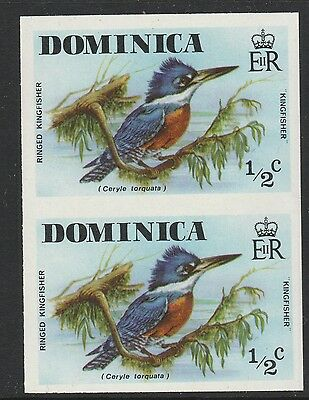 Dominica (S86) 1978 definitives 1/2c Kingfisher IMPERF PAIR  unmounted mint